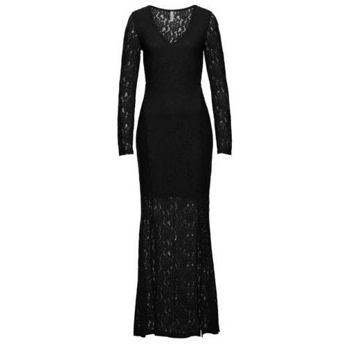 Sukienka z koronką bonprix czarny, kolor czarny
