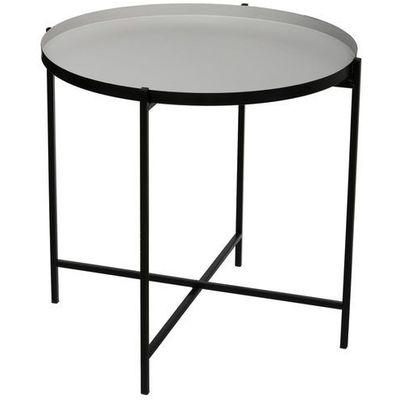 dekoria stolik pomocniczy raw silver black wys 68cm 49 49 68 cm ceny opinie i recenzje w. Black Bedroom Furniture Sets. Home Design Ideas