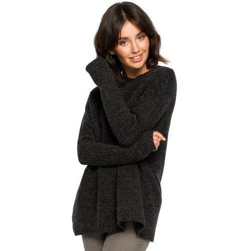 1bf2a1046c Prosty sweter damski antracytowy bk009 (BE) opinie + recenzje - ceny ...