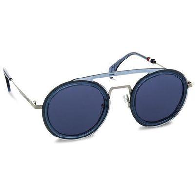 85f7d3f9806f Tommy hilfiger Okulary przeciwsłoneczne - 1541 s blue pjp eobuwie.pl