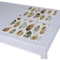 Dekoria podkładka 2 sztuki, kolorowe liście na białym tle, 30x40 cm, urban jungle