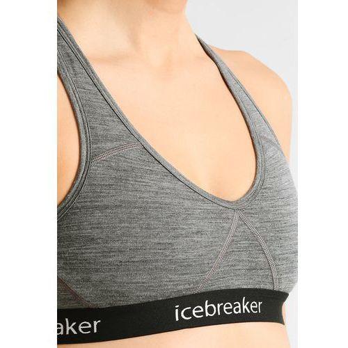 25742c5cc775e7 Icebreaker Sprite Biustonosz sportowy Kobiety szary XL 2019 Biustonosze z  wełny merynosów, 103020 - 7