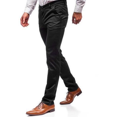 Spodnie wizytowe męskie czarne denley 7623 marki Red polo