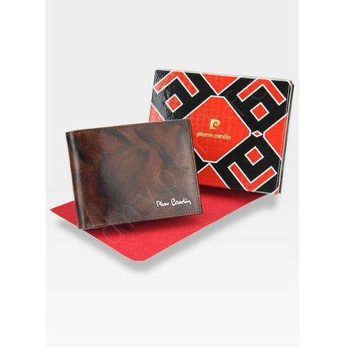 e494ed846b6fb Zobacz ofertę Pierre cardin męski portfel skórzany modny prezent tilak12  325 rfid pudełko - brązowy