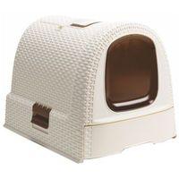 51x38,5x40cm toaleta dla kota kremowa marki Curver