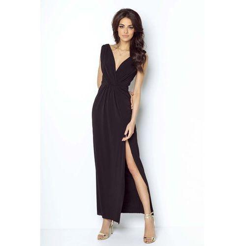 a8d488d7c6 Czarna Wieczorowa Sukienka z Głębokim Dekoltem V