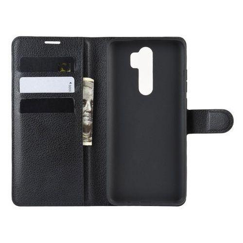 Wozinsky wallet case kabura etui portfel pokrowiec z klapką xiaomi redmi note 8 pro czarny