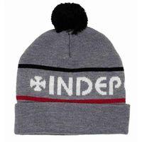 czapka zimowa INDEPENDENT - Indy Strip Heather Grey (HEA GREY)