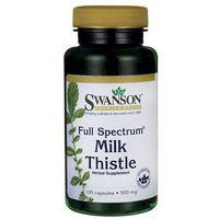 Kapsułki Swanson Full Spectrum Milk Thistle (Ostropest plamisty) 500mg 100 kaps.