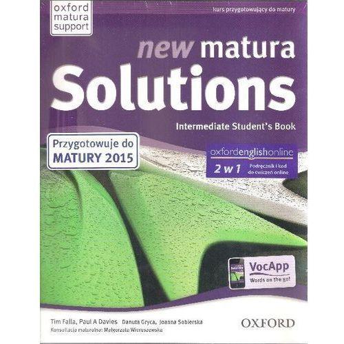 New Matura Solutions Intermediate Student\'s Book + broszura + online Zakres podstawowy i rozszerzony, Oxford University Press
