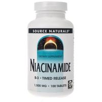 Source Naturals Niacinamide Time Release 1500 mg - 100 tabletek