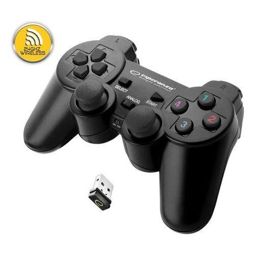 """Gamepad bezprzewodowy 2.4ghz ps3/pc usb """"gladiator"""" czarny marki Esperanza"""