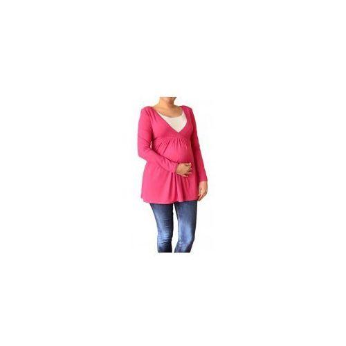 Bluzka ciążowa i do karmienia odcięta pod biustem długi rękaw amarantowa, Dolce sonno