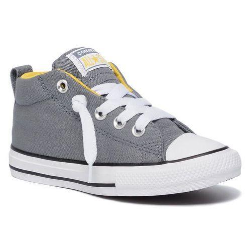 Trampki - ctas street mid 665132c cool grey/vivid sulfur/white marki Converse