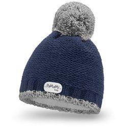 Zimowa czapka chłopięca PaMaMi - Granatowy - Granatowy