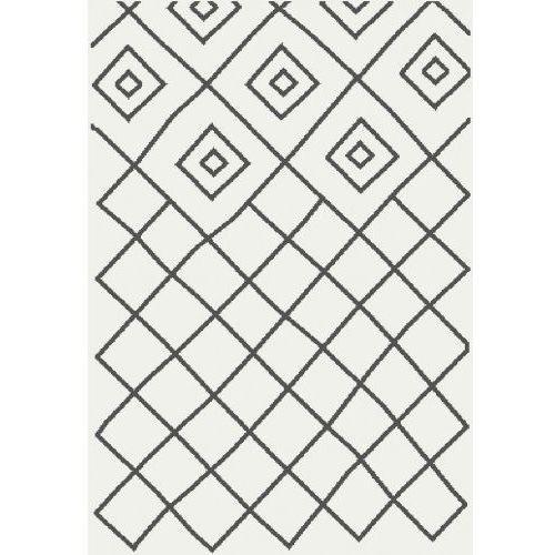 Dywan Shaggy Eco Komfort Mila 120x170 Biały Szary Romby Krata Myretail