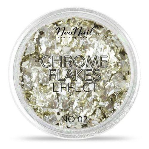 Neonail chrome flakes effect pyłek do zdobień no. 02