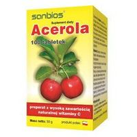 Tabletki Acerola 500 - naturalna witamina C (100 tabletek)