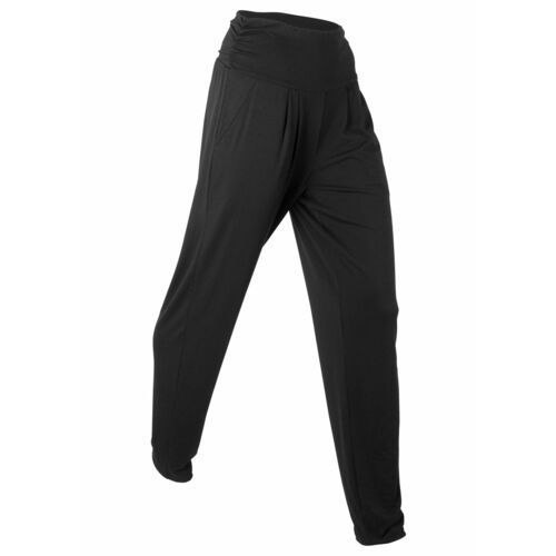 """Spodnie haremki """"wellness"""", długie, Level 1 bonprix czarny, w 6 rozmiarach"""