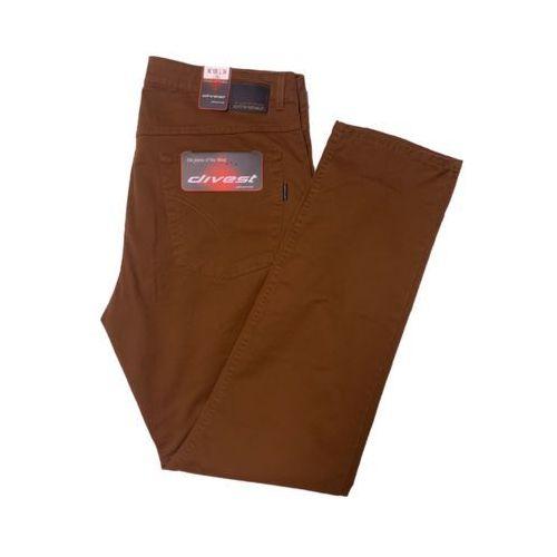 Divest spodnie długie materiałowe toffie model 507 114/34 toffie bawełna / lycra