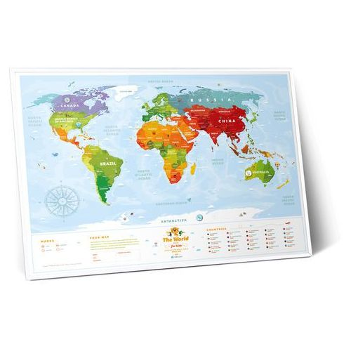 Mapa Interaktywna - Mapa Świata - Travel Map™ Kids Sights