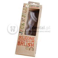 Jack-n-jill silicone tooth&gum brush 1szt. - silikonowa szczoteczka do mycia i masażu dziąseł, 2-6 lat marki Jack n'jill