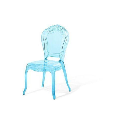 Zestaw do jadalni 2 krzesła przezroczysto-niebieskie VERMONT (7105272849197)