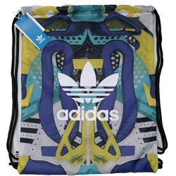 ADIDAS torba plecak worek z kieszenią na zamek