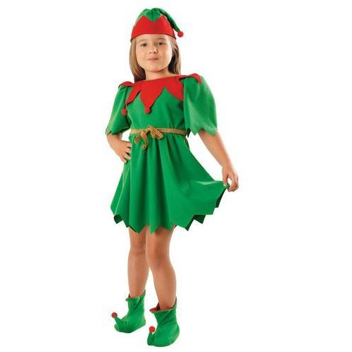 Kostium Elf Zielony sukienka - S - 110/116 cm, 12047