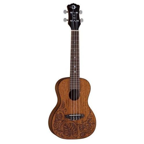 Luna mahogany mo′o concert ukulele koncertowe
