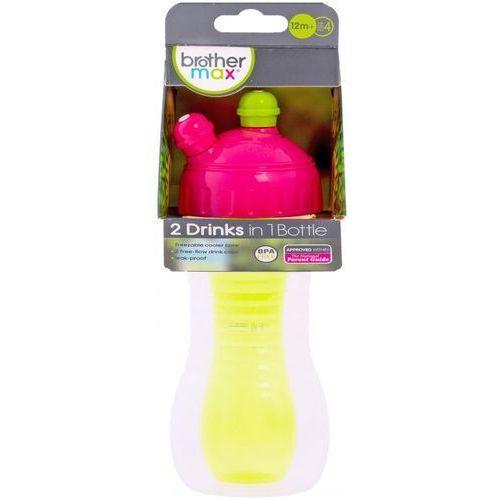 Butelka sportowa BROTHER MAX BM71190PG2 na 2 napoje Różowo-Zielony + Zamów z DOSTAWĄ JUTRO