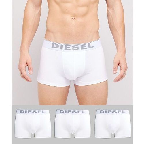 Diesel Cotton Stretch Trunks In 3 Pack - White, kolor biały