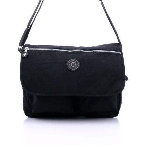 6c663f8fb9ae4 Czarna uniwersalna torba listonoszka na ramię - czarny