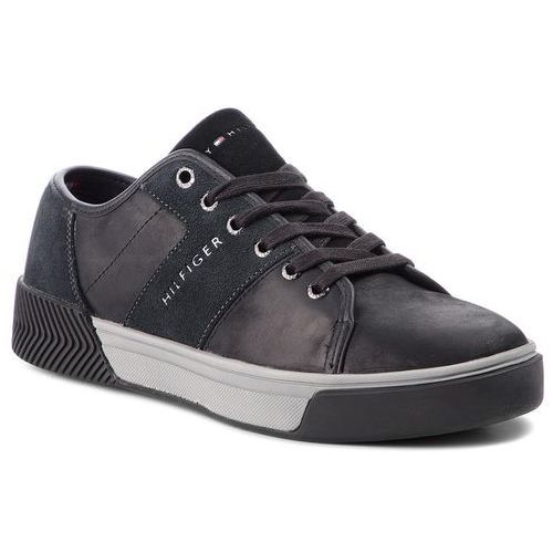 fbf072489512b Sneakersy - leather mix long lac fm0fm01678 black 990 marki Tommy hilfiger  - Galeria produktu