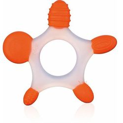 silikonowy gryzak gwiazdka pomarańczowa marki Benir