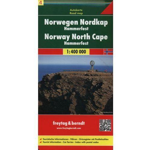 Norwegia. Część 4 - Nordkapp HAMMERFEST. Mapa 1:400 000, Freytagberndt