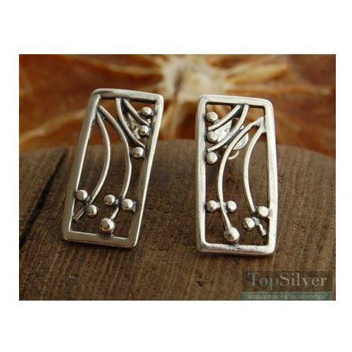 SAVA - srebrne kolczyki kolczyki, kolor szary