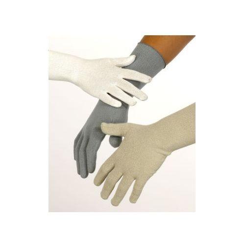 Rękawiczki LECZNICZE bezszwowe jedwabne Skinnies Silk, rozmiar L (nastolatki i dorośli) BEŻ