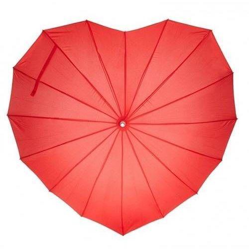 Parasol w kształcie serca czerwony - 1 szt. marki Dp