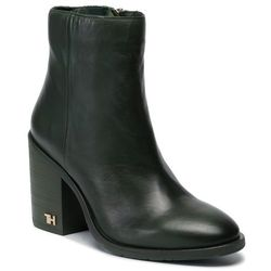 Botki TOMMY HILFIGER - Mono Color Heeled Boot FW0FW04279 Mountain View LIM