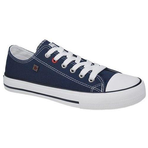 Kultowe Trampki BIG STAR T274021 Granatowe - Granatowy ||Biały, kolor niebieski