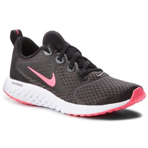 Nike Buty - legend react (gs) ah9437 001 black/racer pink/anthracite