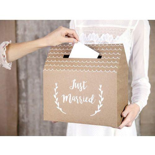 Pudełko na koperty z życzeniami, prezentami Just Married - 1 szt. (5902230795440)