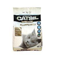 Żwirek zbrylający biały CATSIL - 8l