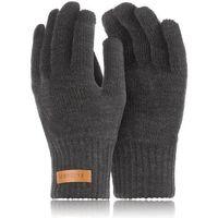 Męskie rękawiczki zimowe brodrene r1 ciemnoszare
