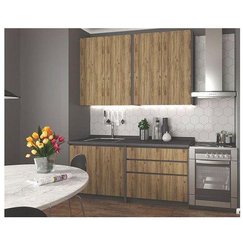Zestaw mebli kuchennych Trida - dąb votan + antracyt, V-UA-IDEA_180-ANTRACYT/D.WOTAN