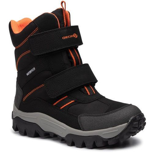 Śniegowce - j himalaya b.b wpf b j843ab 0cefu c0038 s black/orange marki Geox