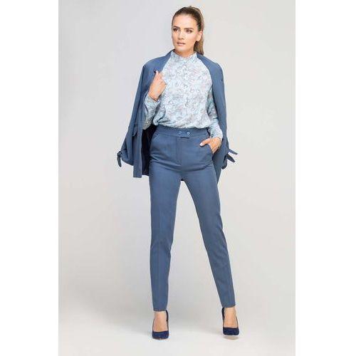 19b81d9dc87aa3 Zobacz w sklepie Niebieskie Eleganckie Spodnie z Podwyższonym Stanem, w 6  rozmiarach. Lanti