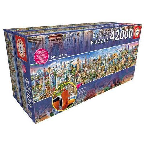 Educa Puzzle 42000 elementów, dookoła świata - darmowa dostawa!!! (8412668175709)