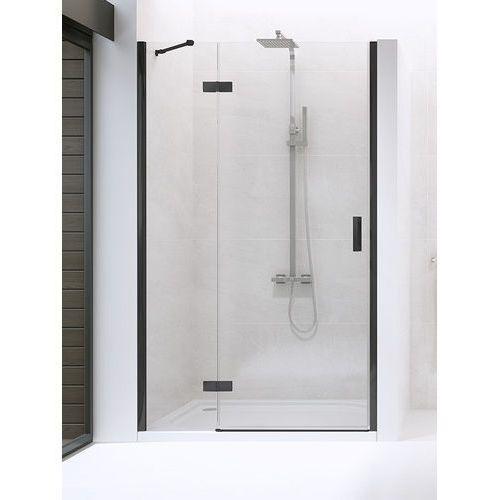 New Trendy drzwi wnękowe New Renoma Black 80 lewe, wys. 195 cm, czyste szkło D-0193A